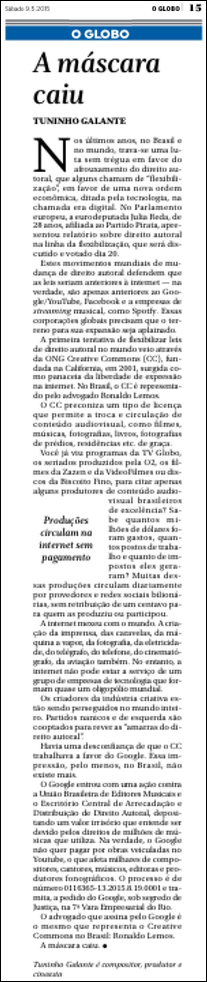 OGlobo09Mai15_Opiniao_Tuninho